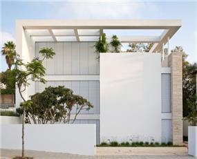 חזית בית פרטי בתכנון אדריכל יואב אנדרמן