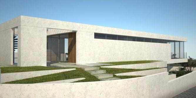 חזית בית בתכנון אדריכל יואב אנדרמן