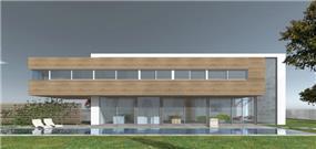 הדמיית מחשב,חזית בית בתכנון אדריכל יואב אנדרמן