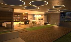 מרפסת  מעוצבת בתכנון אדריכל יואב אנדרמן