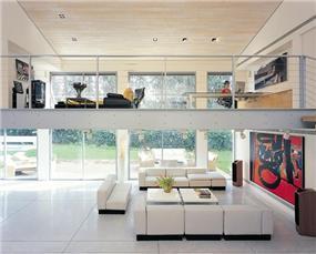 חלל מגורים , סלון מרווח - בתכנון אדריכל יואב אנדרמן