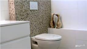 חדר רחצה בסגנון מודרני נקי, בעיצוב טלי גרונברג