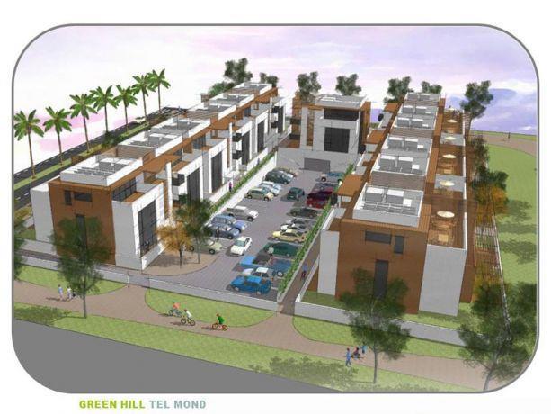 הדמיית פרוייקט GREEN HILL - תל מונד