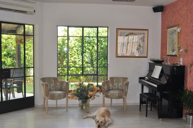 סלון בבית בנס ציונה, עיצוב אילנה דוד