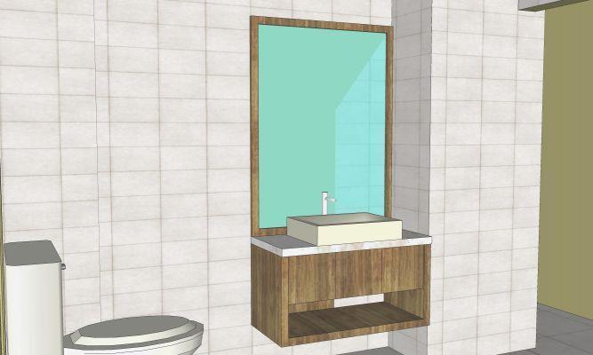 הדמיית מחשב חדר אמבטיה