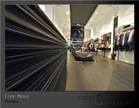 החנות Free Move בהרצליה, עיצוב סטודיו ארטישוק