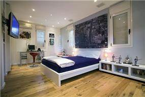 וילה בהרצליה פיתוח - חדר שינה נוער - סגנון מודרני