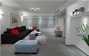 תכנון ועיצוב פנים לדירה ברמת אביב בסגנון מודרני