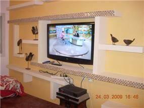 קיר מעוצב בסלון - באר שבע