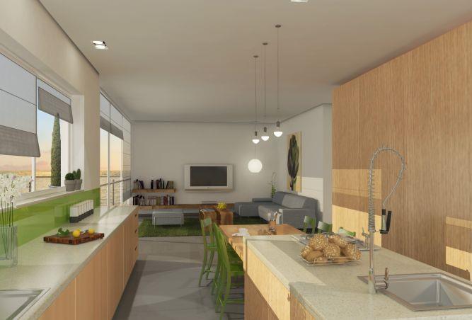 דירה,סלון ומטבח, רמת פולג - סטודיו אסף