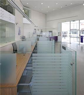 אזור לקוחות, בנק אגוד סניף אשדוד - סתר אדריכלים
