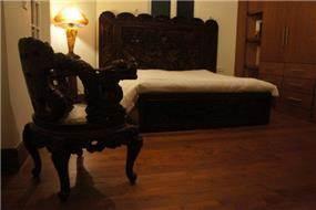 עיצוב חדר שינה באוירה כפרית. תאופיק סלים אדריכלות ועיצוב פנים
