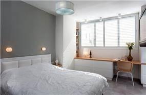 חדר שינה בסגנון מודרני בעיצוב אסנת ברש