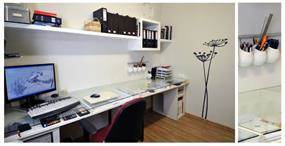 חדר עבודה מואר, המקנה תחושה של גודל ומאפשר ארגון נח של המרחב