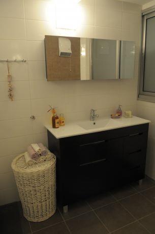 חדר רחצה מינימליסטי, עמית בר אדריכלות ועיצוב פנים