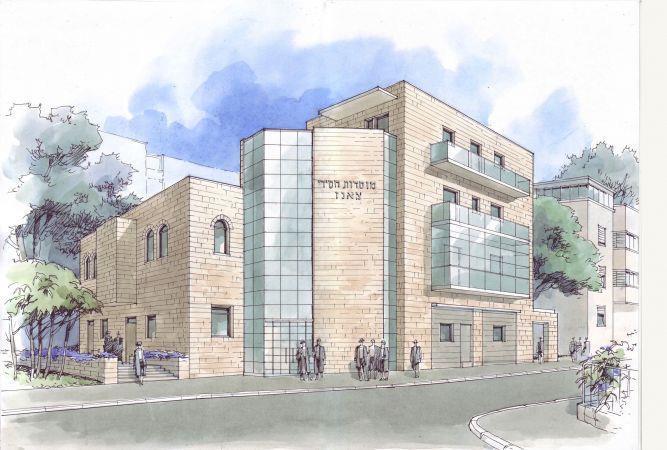 בית כנסת בתוך בניין מגורים בחיפה - רוטשטיין (גביש)