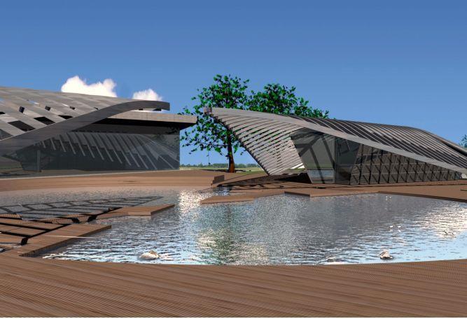 אולם בנחלים - הדמייה - גל אדריכלים