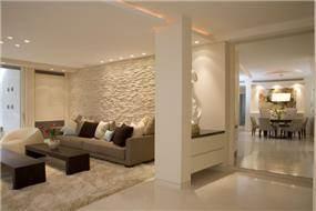 חדר מגורים, סלון ופינת אוכל - גל אדריכלים