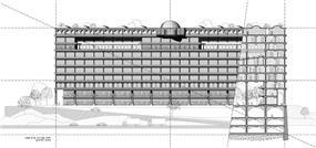 תכנון מבנה משרדים על איילון בהשראת התקופה הקלאסית