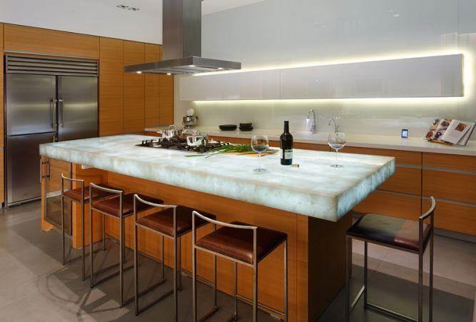 מטבח בית בוילה נובל בעיצובו של אלדד מיטלמן