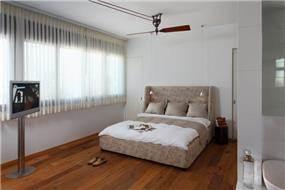 חדר שינה בוילה נובל בעיצובו של אלדד מיטלמן
