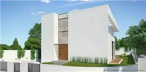 חזית של בית פרטי באירוס, שחר רוזנפלד אדריכלים