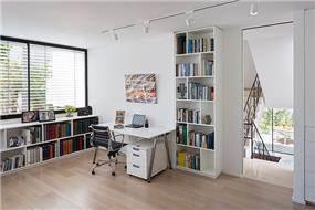 חדר עבודה מעוצב, שחר רוזנפלד אדריכלים