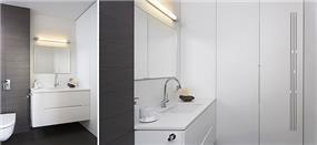חדר אמבטיה יוקרתי לאחר שיפוץ, שחר רוזנפלד אדריכלים