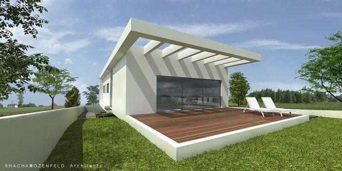 בית חד קומתי באירוס תכנון וביצוע יעל שחר אדריכלים
