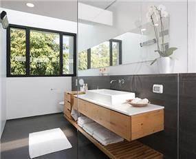 חדר אמבטיה בסגנון כפרי, שחר רוזנפלד אדריכלים