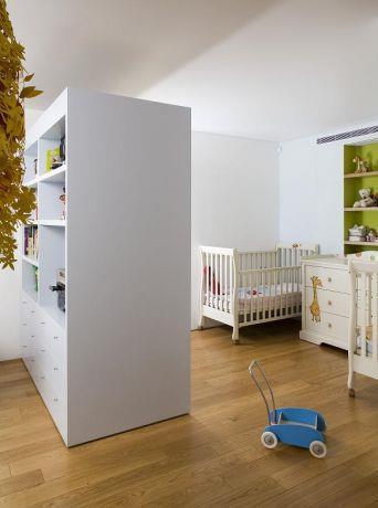 חדר תינוקות בתכנונה של אדריכלית ורד בלטמן כהן