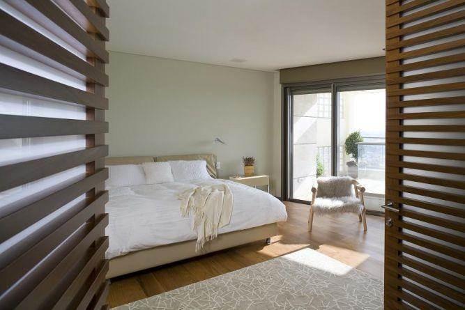 חדר שינה בתכנונה של אדריכלית ורד בלטמן כהן