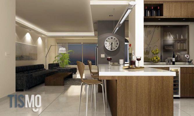 מטבח וסלון, הדמיה - Tismo Studio