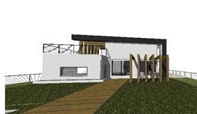 הדמייה ממוחשבת של בית פרטי במבוא ביתר, חזית 2  - בתכנון