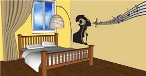 הדמיה- עיצוב פנים בית ברח' השייטת אשקלון- חדר שינה