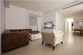 סלון דירת קבלן - עיצוב ענת רגב - אדריכלות אחרת