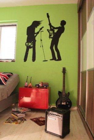 חדר נוער בסגנון רטרו בעיצוב טליה עיצוב פנים ותאורה