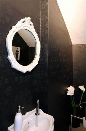 עיצוב יוקרתי לחדר אמבטיה בגווני שחור לבן. יניב סולומון - אדריכלות ועיצוב פנים