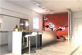 מטבח עם משטח עבודה מרכזי, בעיצוב YANDESIGN