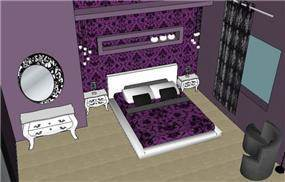 הדמיה לחדר שינה קלאסי