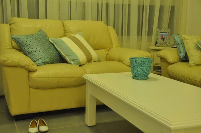כריות מסוגננות בסלון