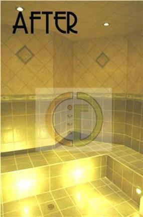 חדר אמבטיה שעוצב בסגנון חמאם קלאסי. גרונר קטרין CGDECO