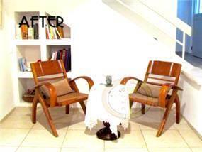 פינת ישיבה וקריאה בסגנון אר דקו בעיצוב של גרונר קטרין CDGECO