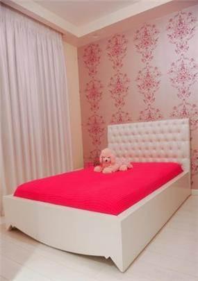 מיטת חלומות לנערות לבן משי ראש מרופד