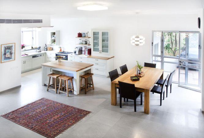 פינת אוכל ומטבח בעיצוב סטודיו דולו