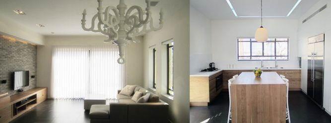 מטבח וסלון בחלל משותף, טולדו ליפשיץ אדריכלות ועיצוב