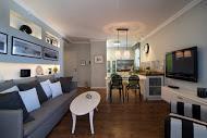 סלון בעיצוב פנים מודרני בדירה קטנה  - BLV תכנון ועיצוב פנים - זהר בן לביא