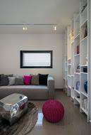 ספרייה בעיצוב מודרני ייחודי לאזור המשפחה בקומת המגורים - BLV תכנון ועיצוב פנים - זהר בן לביא