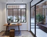 יציאה לחצר הבית בדירת גן בעיצוב ייחודי  - BLV תכנון ועיצוב פנים - זהר בן לביא