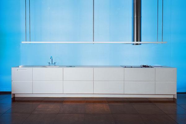 מטבח מקוריאן לבן. עיצוב: הווארד ג'ורנו